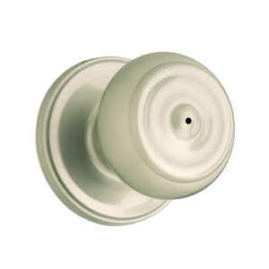 Weiser  Phoenix  Satin Nickel  Steel  ANSI/BHMA Grade 2  1-3/4 in. Privacy Lockset