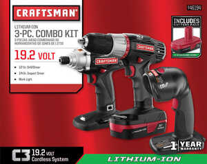 Craftsman  Ratcheting  2 tools Drill and Driver Kit  Cordless