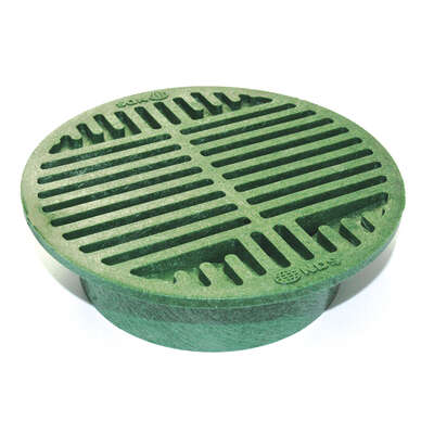 NDS 8 in. Green Round Polyolefin Drain Grate