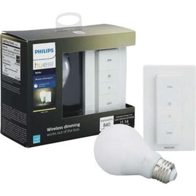 Philips  Hue  A19  E26 (Medium)  LED Smart Wireless Dimming Kit  Warm White  60 Watt Equivalence 2 p