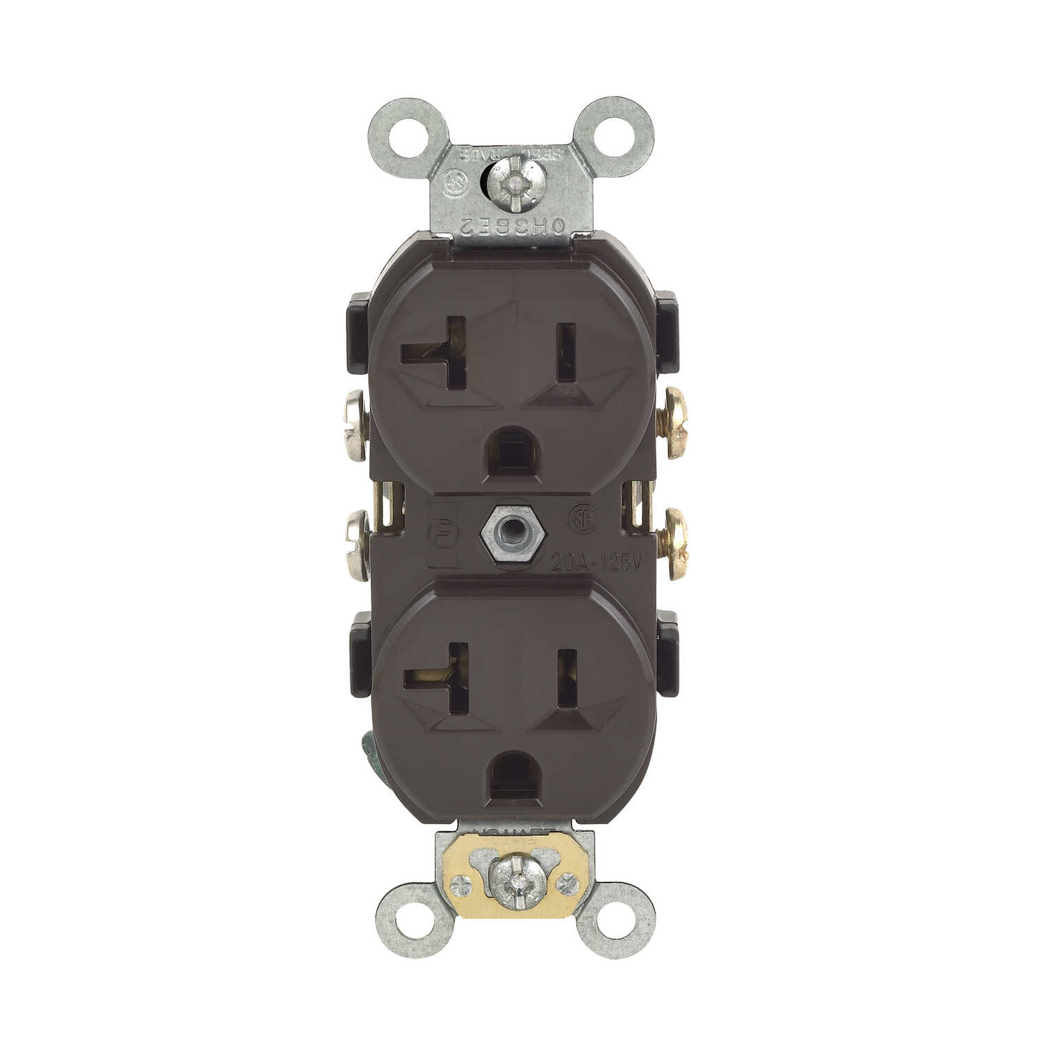 Leviton  20 amps 125 volt Duplex  Brown  Outlet  5-20R  Commerical and Residential  1 pk