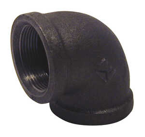 B & K  1 in. FPT   x 1 in. Dia. FPT  Black  Malleable Iron  Elbow