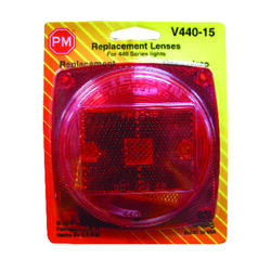 Peterson  Red  Square  Tail  Light Replacement Lens