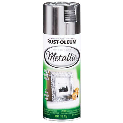 Rust-Oleum  Specialty  Silver  Metallic Spray Paint  11 oz.