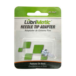 Lubrimatic  Straight  Needle Tip Adapter  1 pk