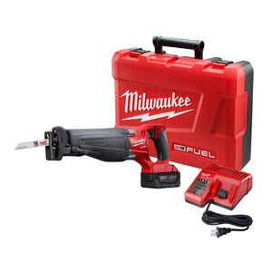 Milwaukee  M18 FUEL SAWZALL  1-1/8 in. Cordless  Reciprocating Saw  Kit 18 volt 3000 spm