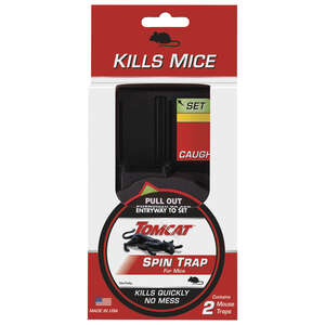 Tomcat  Small  Spin  Animal Trap  For Mice 2 pk