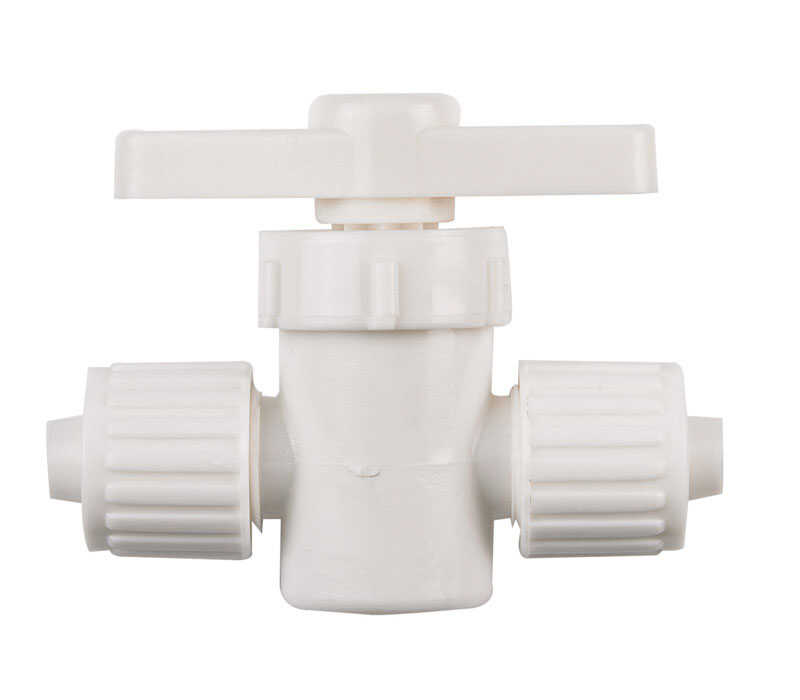 Flair-It  3/8 in.  x 3/8 in.  Plastic  Straight  Supply Valve