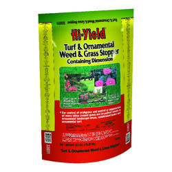 Hi-Yield  Turf and Ornamental  Organic Crabgrass Preventer  Granules  35 lb.