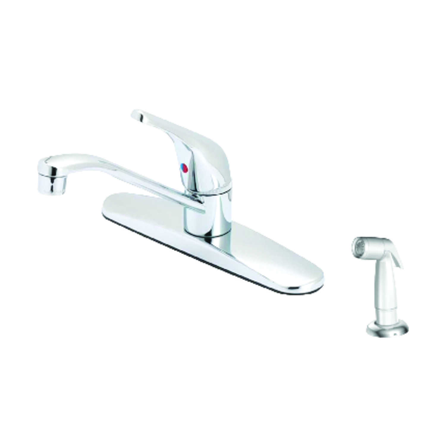 OakBrook  Washerless Cartridge  One Handle  Chrome  Kitchen Faucet  Side Sprayer Included