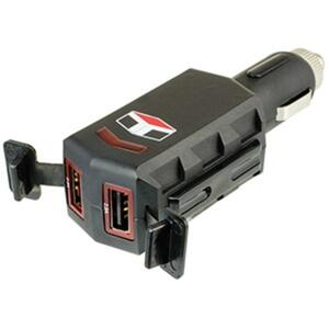 Custom Accessories  12 volt Black  Dual USB Charger  1 pk