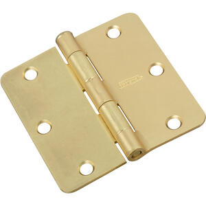 National Hardware  3 in. L Satin Brass  Door Hinge  1 pk