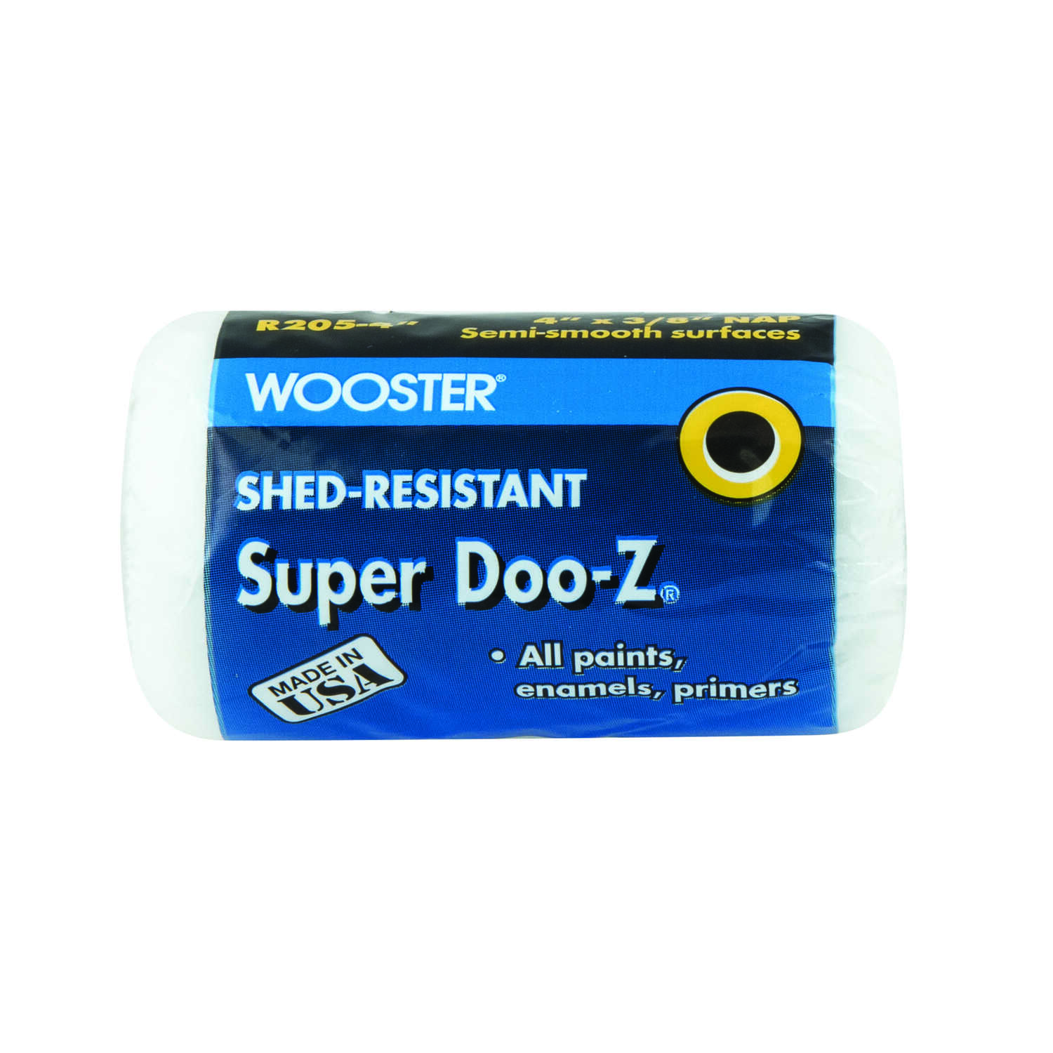 Wooster  Super Doo-Z  Fabric  3/8 in.  x 4 in. W Paint Roller Cover  1 pk For Semi-Smooth Surfaces