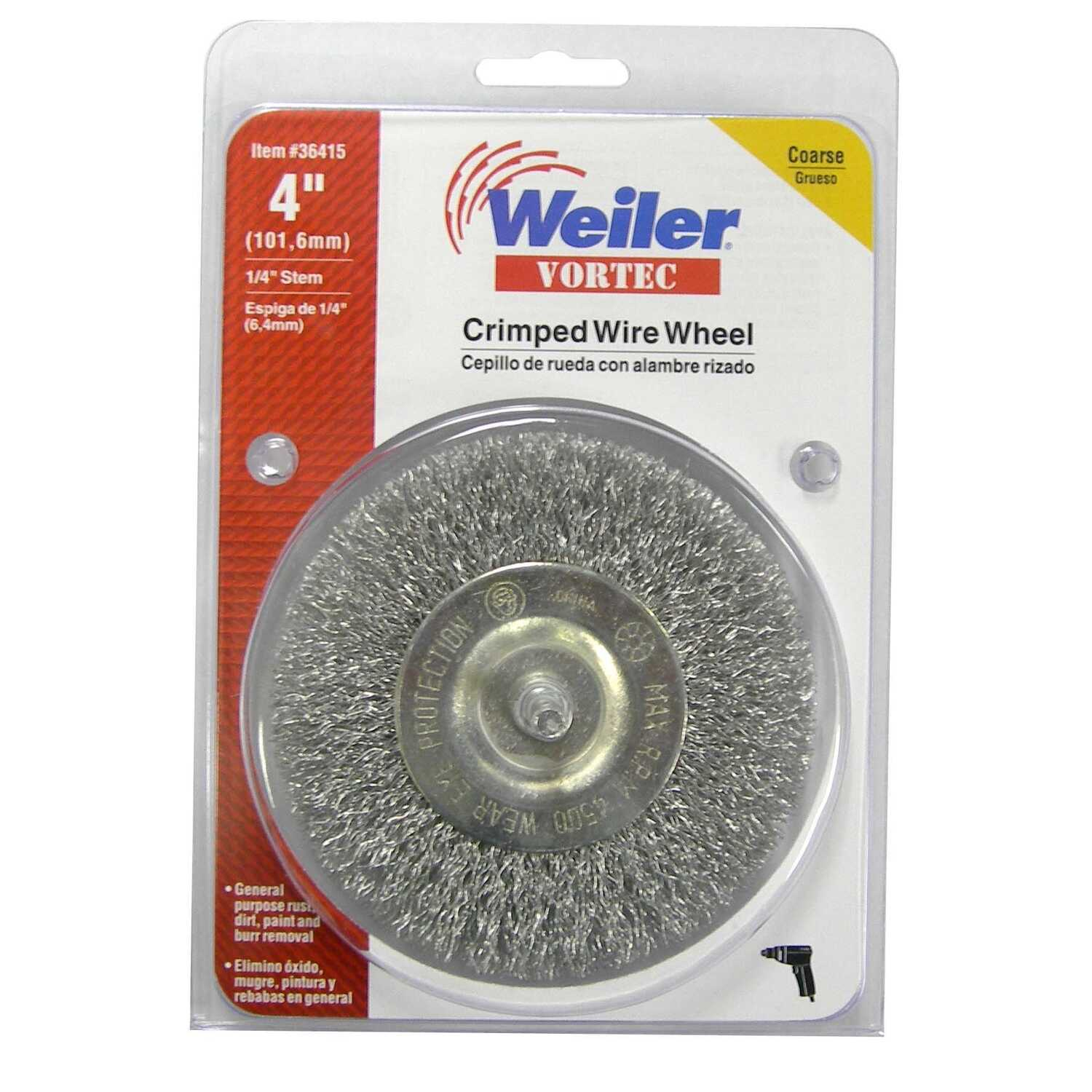 Weiler  Vortec  4 in. Crimped  Wire Wheel  4500 rpm 1 pc.
