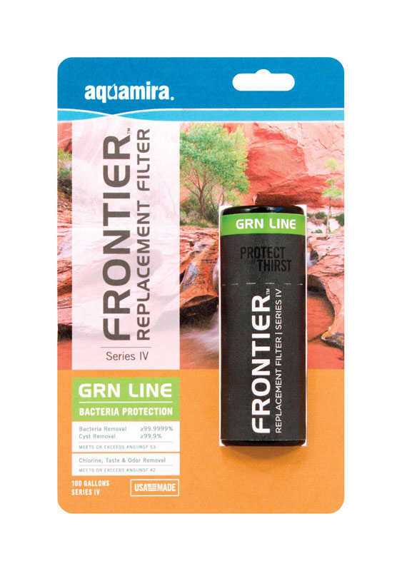 Aquamira  Frontier  Replacement Water Filter  100 gal. For Hydration Systems