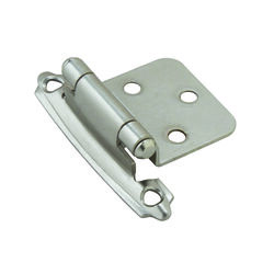 Amerock  1-13/16 in. W x 2-3/4 in. L Satin Nickel  Steel  Self-Closing Hinge  2 pk