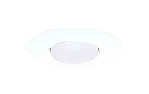 Halo  Satin  White  6 in. W Plastic  Open Trim