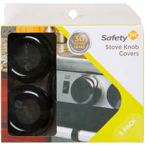 Safety 1st  Black  Plastic  Stove Knob Covers  5 pk