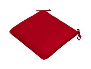 Casual Cushion  Red  Polyester  Seating Cushion  2 in. H x 19 in. W x 18 in. L