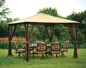 Living Accents  Replacement Gazebo Mosquito Netting  7 ft. H x 10 ft. W x 10 ft. L