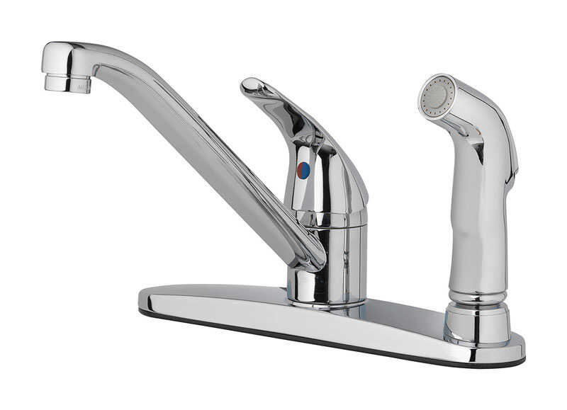 OakBrook  Essentials  Single Handle Kitchen w/spray  Chrome  Kitchen Faucet  Side Sprayer Included