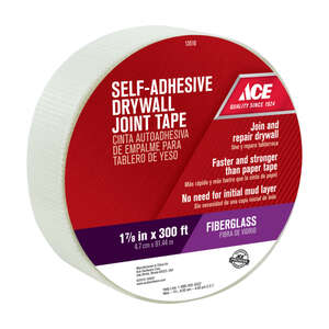 Ace  300 ft. L x 1.88 in. W x 1-7/8 in. W x 300 ft. L White  Drywall Joint Tape  Fiberglass Mesh  Se