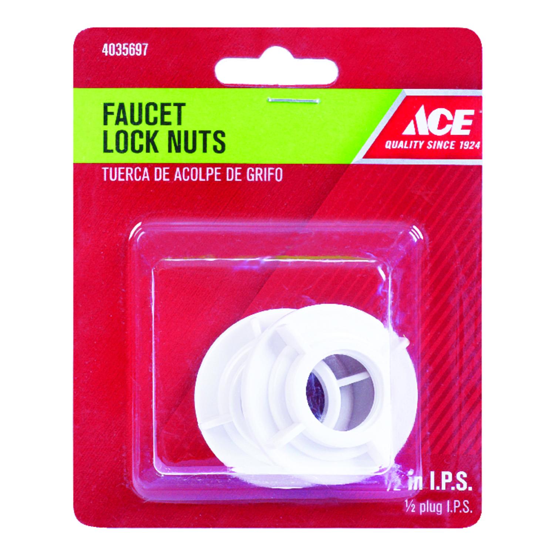 Ace 1/2 inch Plastic SAE Faucet Lock Nut 2 pk - Ace Hardware