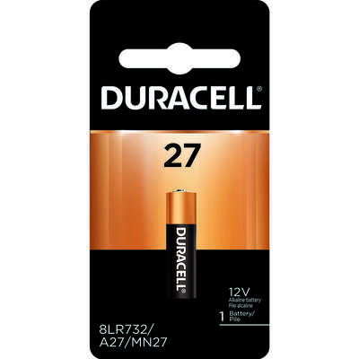 Duracell  Alkaline  12-Volt  12 volt Security Battery  27  1 pk