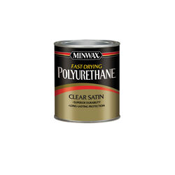 Minwax  Satin  Clear  Fast-Drying Polyurethane  0.5 pt.