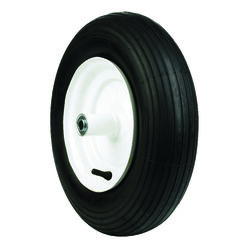 Arnold  8 in. Dia. x 16 in. Dia. 500 lb. capacity Centered  Wheelbarrow Tire  Rubber