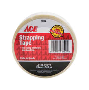 Ace  0.94 in. W x 60 yd. L Strapping Tape  Clear