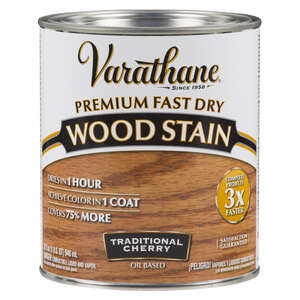 Varathane  Premium Fast Dry  Semi-Transparent  Traditional Cherry  Wood Stain  1 qt.