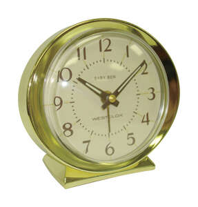 Westclox  3.5 in. Gold  Analog  Alarm Clock