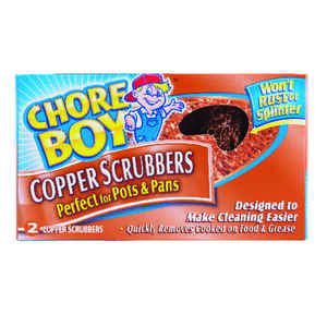 Chore Boy  Heavy Duty  Scrubber  For Pots and Pans 2-9/32 in. L 2 pk