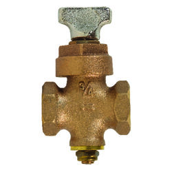 BK Products ProLine 3/4 in. FIP x 3/4 in. FIP Brass Ground Key Stop & Drain Valve