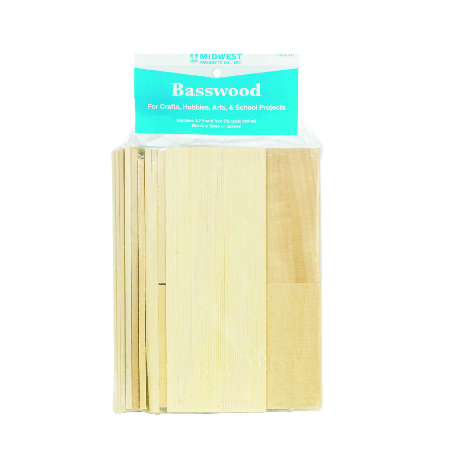 Midwest Products 6.5 in. W x .66 ft. L x 2.5 in. Basswood Lumber #2/BTR Premium Grade