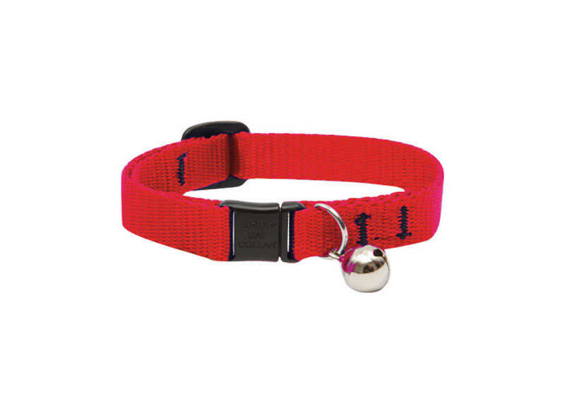 Lupine Pet  Basic Solids  Red  Nylon  Cat  Adjustable Collar
