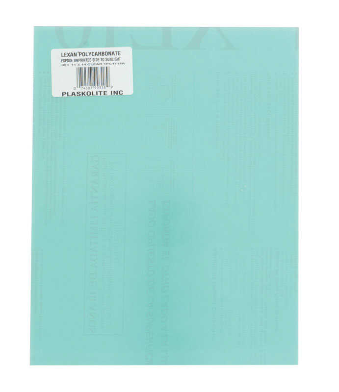 Lexan  Clear  Double  Polycarbonate Sheet  11 in. W x 14 in. L x .093 in.