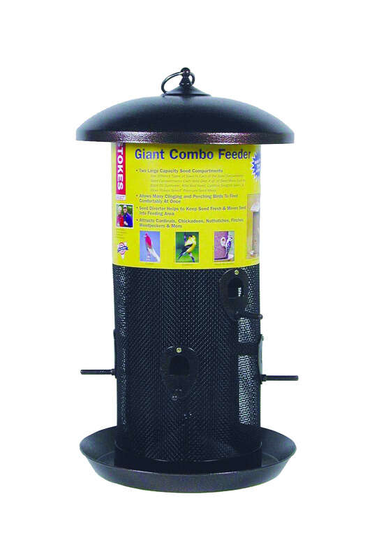 Stokes Select  Wild Bird  12 lb. Metal Screen  Tube  Seed Feeder  6 ports