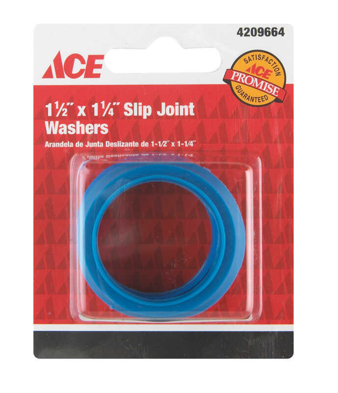 Ace  1-1/4 in. Dia. Plastic  Slip Joint Washer  2