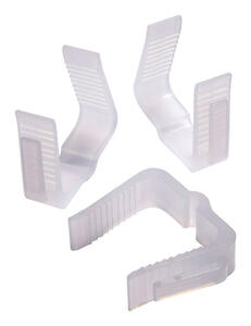 Kwik Clip Holiday Light Hanger Clips White Plastic 32 Pk