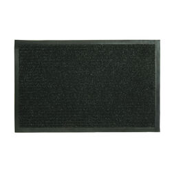 Sports Licensing Solutions Fanmats 28 in. L x 18 in. W Black Ribbed Nonslip Utility Mat