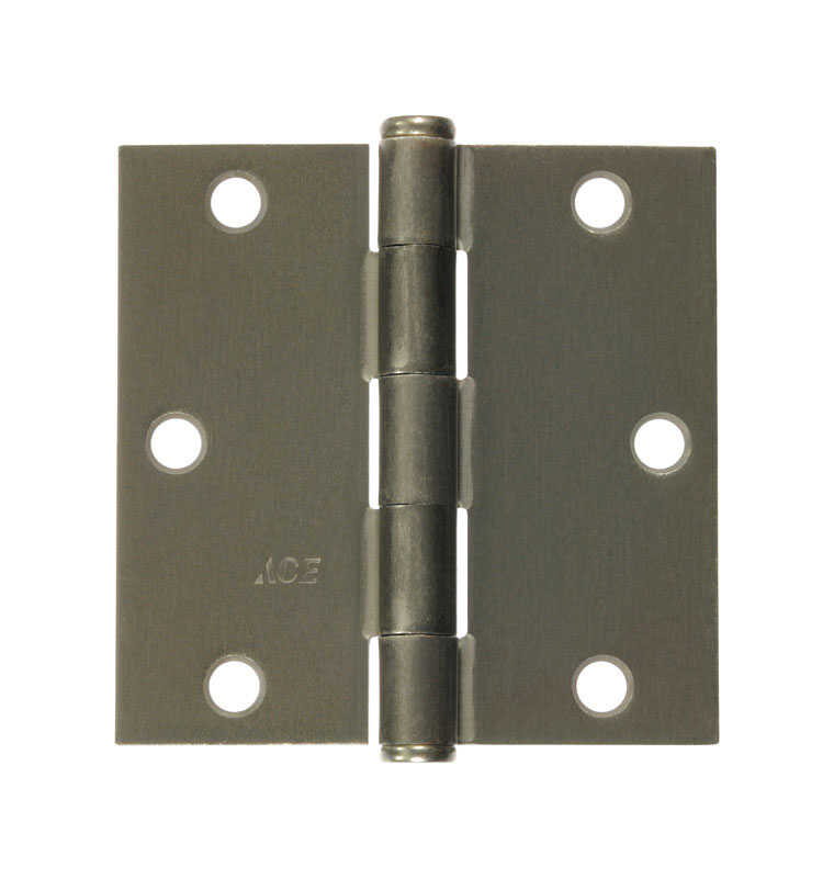 Ace  3-1/2 in. L Satin Nickel  Steel  Residential Door Hinge  1 pk