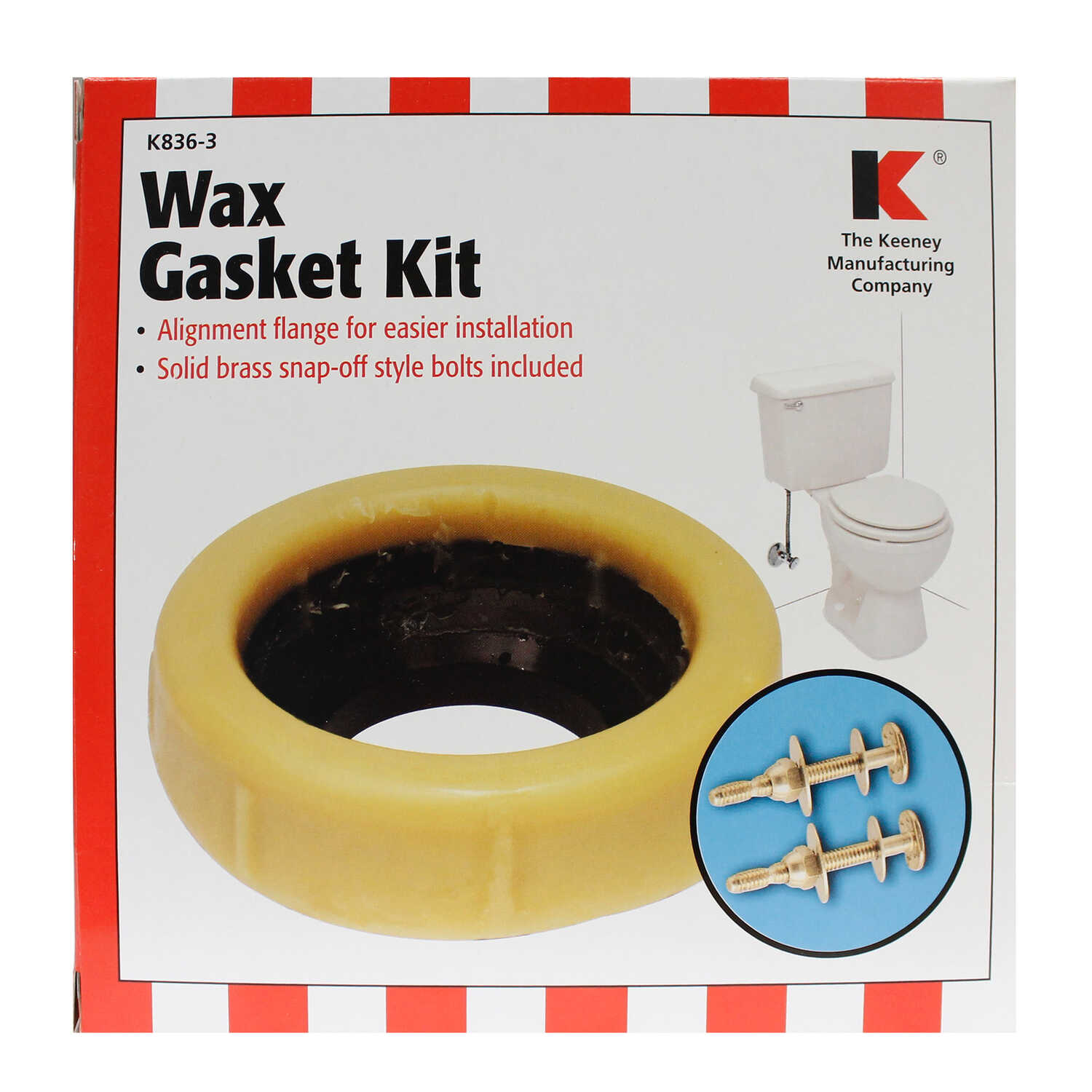 Keeney  Wax Ring Kit  For 3 or 4 inch waste lines