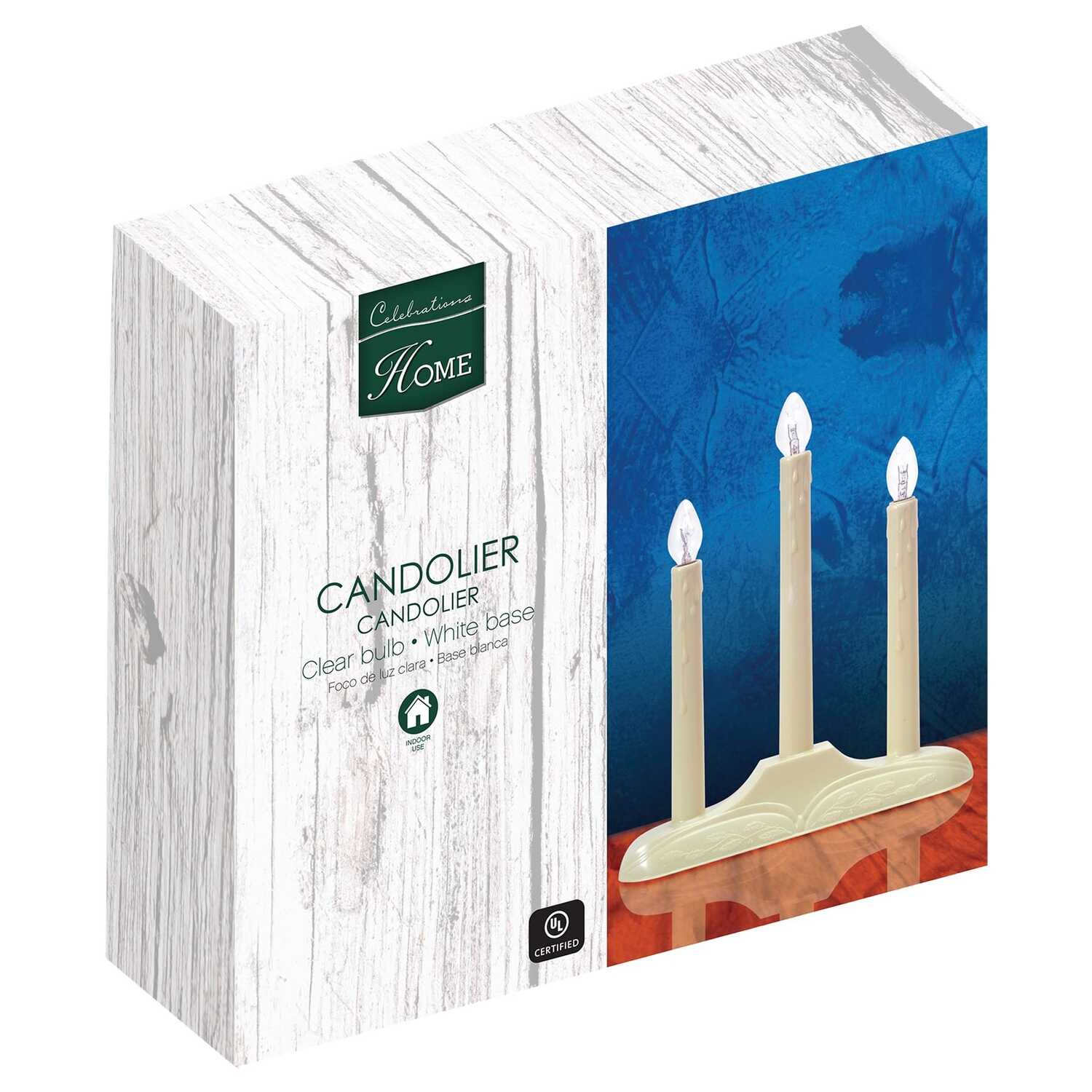 Celebrations  C7  Candle  Clear  3 lights