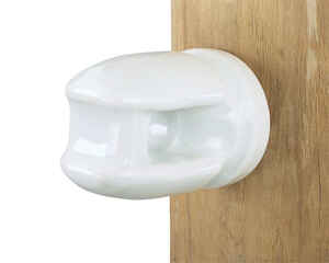 Dare Products  Ceramic Lag Screw Insulators  White