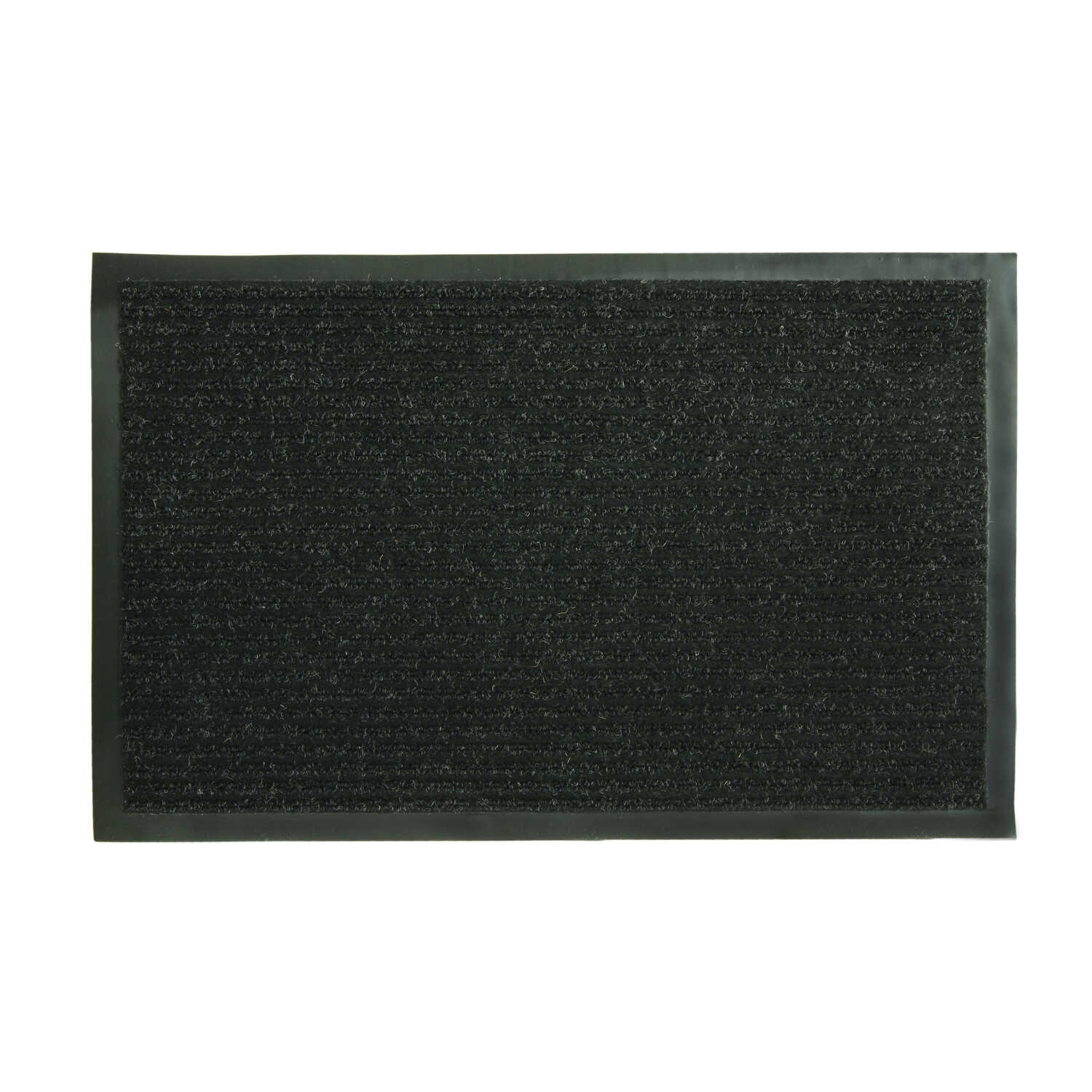Bacova  Charcoal  Polyester Jacquard  Nonslip Door Mat  28 in. L x 17-1/2 in. W