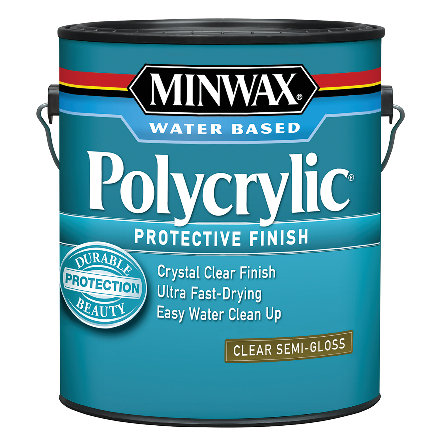 Minwax  Indoor  Clear  Semi-Gloss  Polycrylic  1 gal. Semi-Gloss