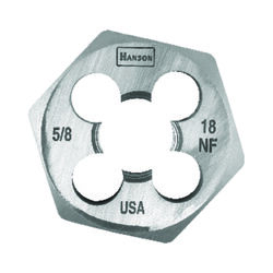 Irwin  Hanson  High Carbon Steel  SAE  Hexagon Die  5/8 in.-18NF  1 pc.