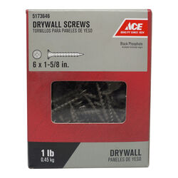 Ace  No. 6   x 1-5/8 in. L Phillips  Drywall Screws  1 lb. 230 pk